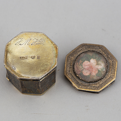 A silver snuff-box, mark of peter andreas thomasson,  karlskrona (1832-1864).