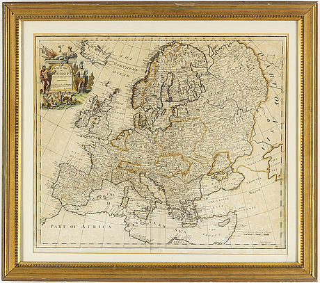 Map/engraving, by john senex, 18th century.