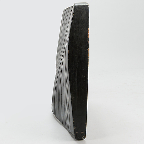 Heimo virolainen, relief, painted wood, signed and dated 1972.