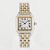 Cartier, panthere, wristwatch, ca 26 x 26 (36) mm.