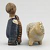 Lisa larson, two stoneware figurines.