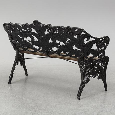 An aluminium garde sofa, melins.