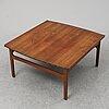 A 1950's teak coffee table by tove & edvard kindt larsen.