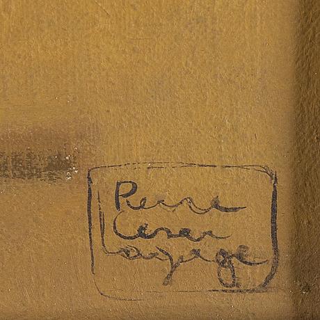 Pierre cesar lagage, olja på duk, signerad.