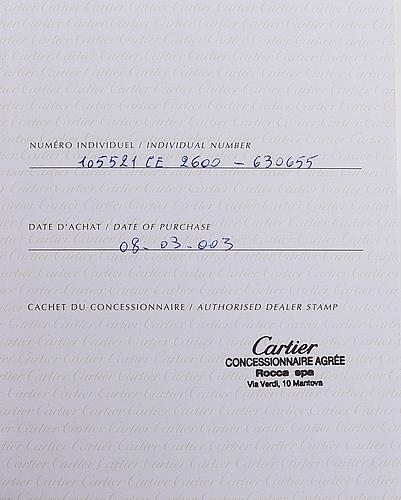 Cartier, tank divan, wristwatch, 38 x 24 mm.
