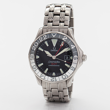 Omega seamaster, gmt, chronometer, wristwatch, 41 mm.