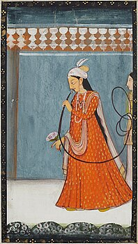 An album page, gouache with ink on paper. India, late 19th Century/early 20th century.