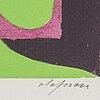 Pierre olofsson, färgserigrafi, signerad och numrerad 21/40.