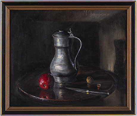 Johnny oppenheimer, oil on canvas, signed and dated -78.