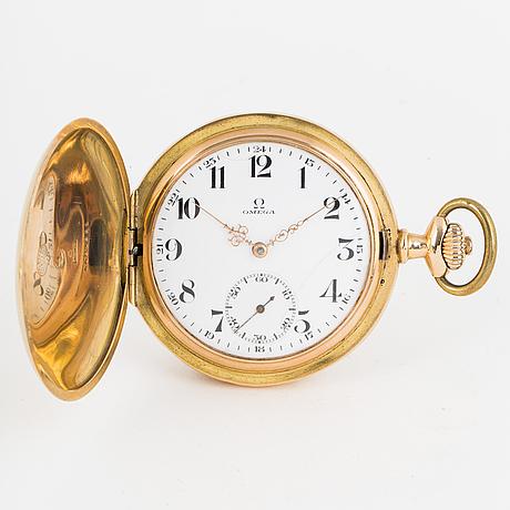 Omega, pocket watch, hunter, 54 mm.