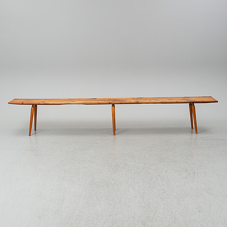 A pine bench, first half of the 20th century.