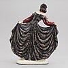 Stefan dakon, a earthenware figurine, goldscheider. austria, mid 20th century.