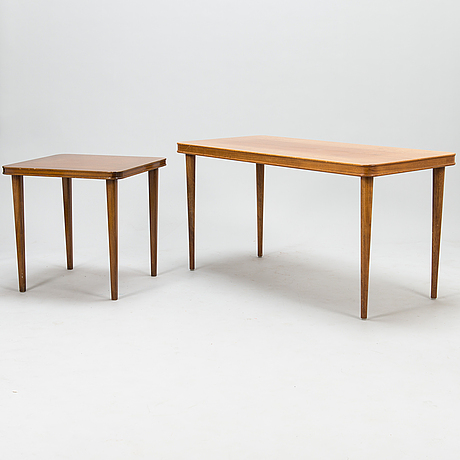 Two 1950's coffee tables the other for oy paul boman ab.