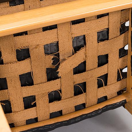 Alvar aalto, fåtöljer, 4 st, modell 45, artek 1900-talets slut.