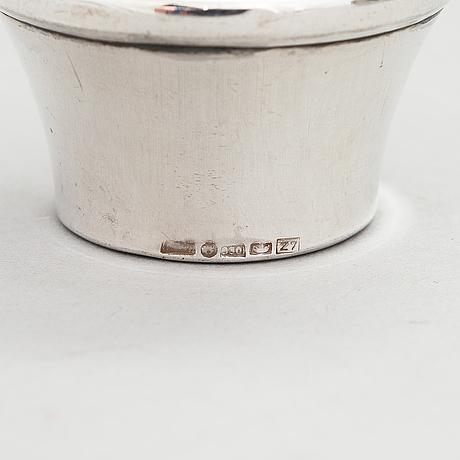 A silver wine pitcher, finnish control marks, helsinki 1977.