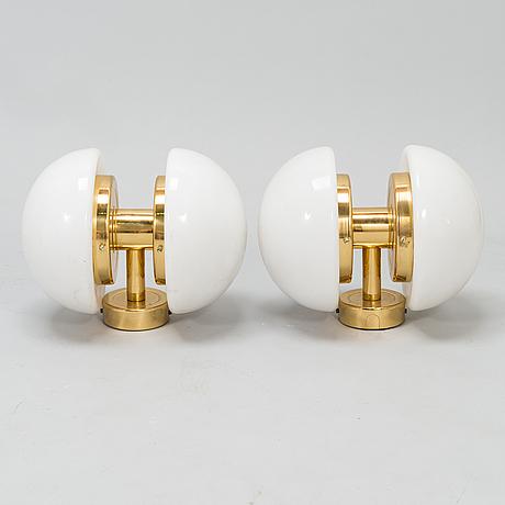 """Klaus michalik, a pair of wall lamps, """"bau"""", orno."""