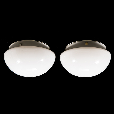 Two 1960's 'h-400/30' ceiling-/wall lights for asea skandia.