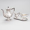 A 4-piece silver coffee set, finland 1957-62.