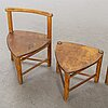 Elis borg,child chairs and tables 2+2 st, firma sunt och runt, mid 20th century.