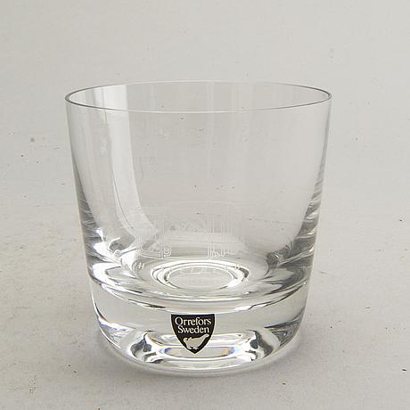 Nils landberg, 6 whiskey glasses, orrefors / hasselblad.