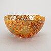 """Kjell engman, a signed """"dino"""" kosta boda glass bowl."""