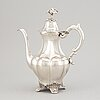 A swedish 20th century silver coffee-pot, mark of a.g. dufva, stockholm 1922.