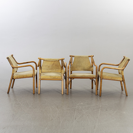 A set of four armchairs second half of 20th century.