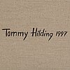 Tommy hilding, oil on canvas, signed and dated 1997 verso.