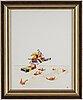 Sten eklund, water colour on paper, signed se and sten eklund, 1982.