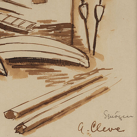 Agnes cleve, ink. signed.