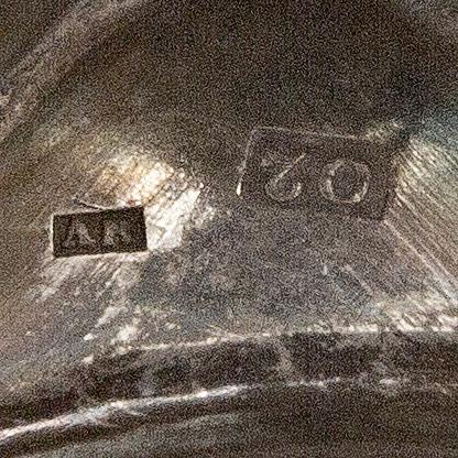 SockerskÅl på fot, silver, 1796, troligen anders risén, göteborg. vikt 600 gram.