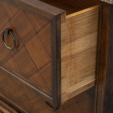 A mahogany and birch chest of drawers, Åtvidabergs möbelfabrik, 1930's.
