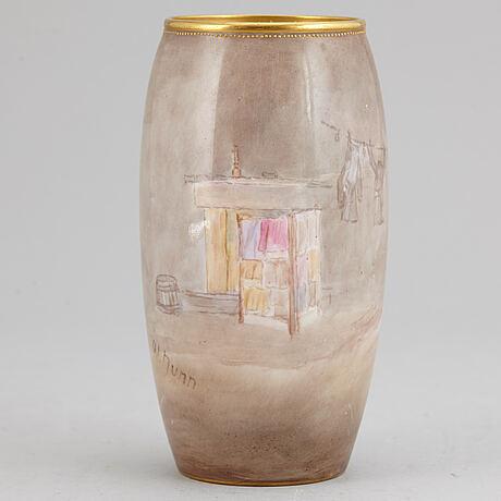 A royal dulton vase, england, signed w nunn.