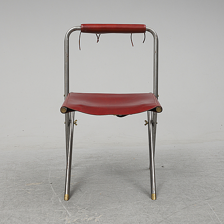 A tubular steel chair, second half of the 20th century.