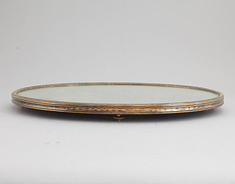 Bordsplateau, försilvrad mässing. england, circa 1900.