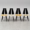 Risto halme, stolar, 4 st, isku, finland, 1960-tal.