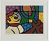 Romero britto, silkscreen, 1984, signed in pencil and numbered 241/300.