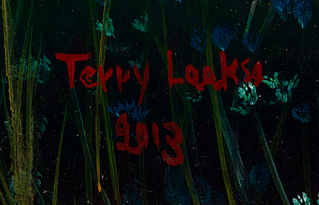 Terry laakso, oil on board, signed and dated 2013.