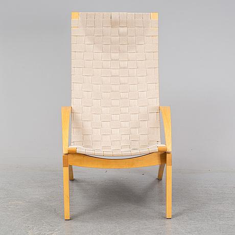Lasse pettersson & lennart notman, a 'kornett' birch easy chair, swedese.