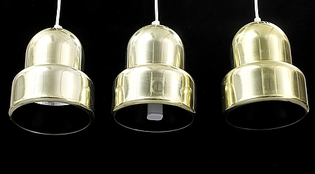 Three ceiling lights, fagerhults belysning, second half of the 20th century.