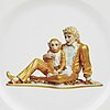 Jeff koons, porcelain plate, for bernardaud, edition of 4500 ex, 2013.