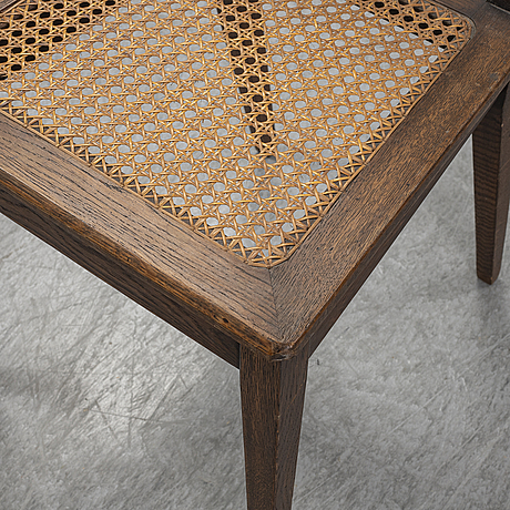 A first half of the 20th century oak and rattan chair.