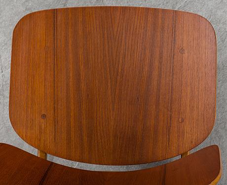 Børge mogensen, a set of four chairs, søborg  møbelfabrik, denmark 1950's, model 155.