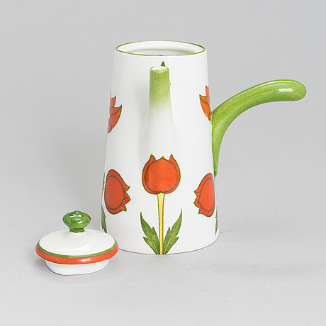 A porcelain chocolate pitcher for arabia 1900-1920.