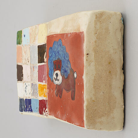 Roy kortick, mixed media, signed and dated 2001.
