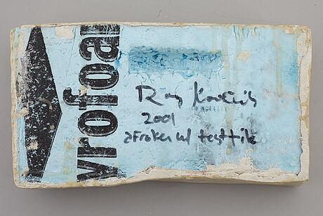Roy kortick, blandteknik, signerad och daterad 2001.