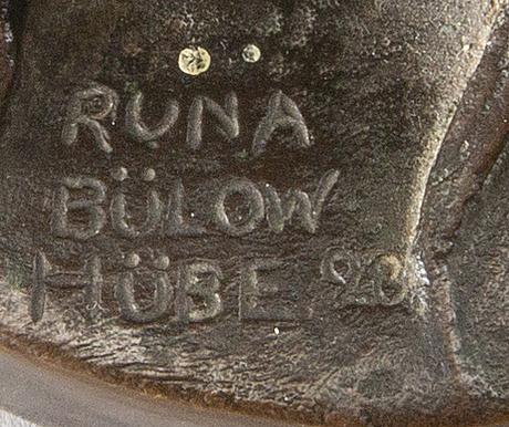 Runa bÜlow-hÜbe, a signed bronze.