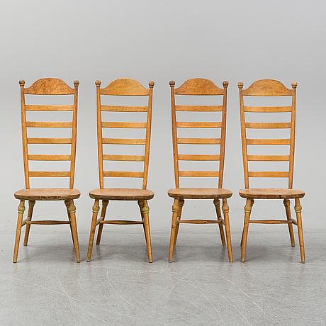 Four 20th century chairs by nässjö stolfabrik.