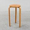 A stool no. 60 by alvar aalto, laminated bentwood in birch, stackable. designed in 1933, huonekalu-ja rakennustyötehdas.