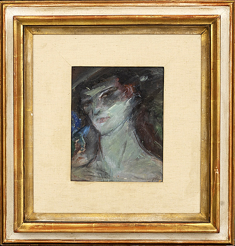 Jules schyl, a signed oilpainting on board.